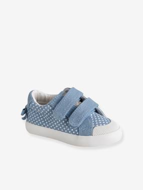 Touch-Fastening Trainers in Canvas for Baby Girls blue medium all over printed