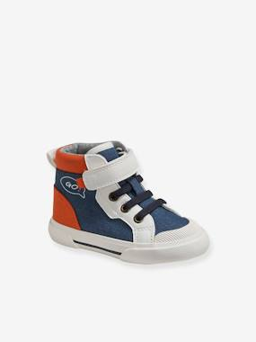 High-Top Trainers for Baby Boys blue medium solid with design